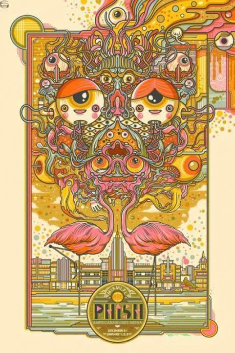 Phish - American Airlines Arena, Miami, FL - 2014-12-31 poster