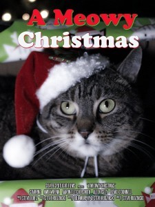 A Meowy Christmas poster